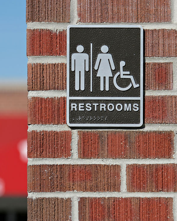 Custom ADA Restroom Signs by Stryker Designs in Pflugerville, Texas